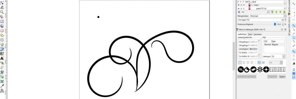 Swirls tekenen in inkScape