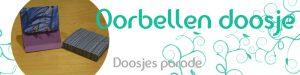 Doosjes parade – Oorbellen doosje zonder lijm te maken – Handleiding – met gratis snij file