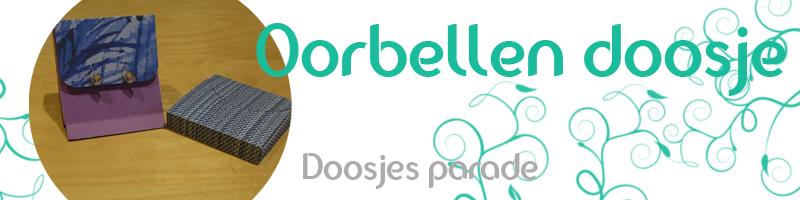 Lees meer over het artikel Doosjes parade – Oorbellen doosje zonder lijm te maken – Handleiding – met gratis snij file