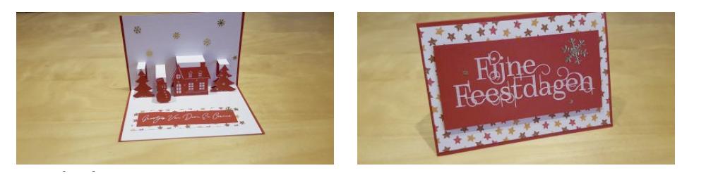Kerst pop up kaart