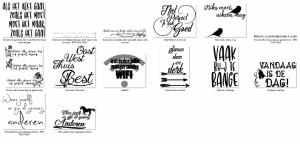 Slogans voor flex vinyl en teken projecten leden bestand
