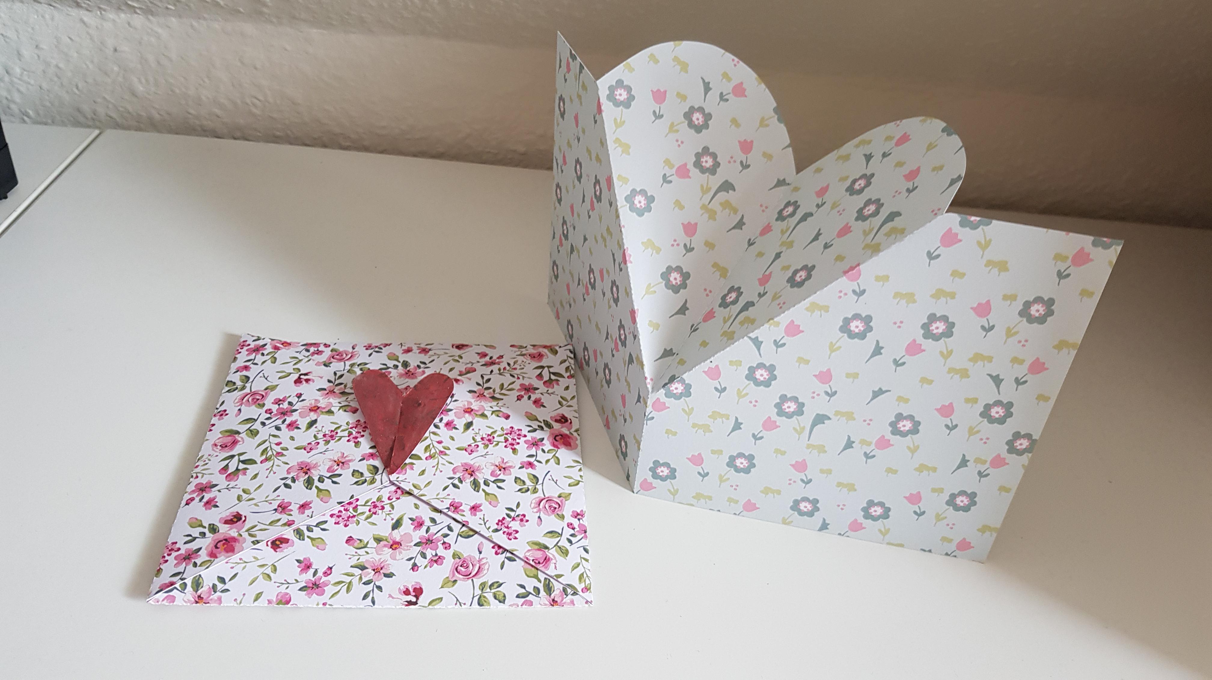 Hearts box, card and Envelope