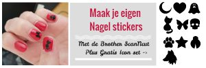 Maak eigen Nagel stickers met de Brother ScanNcut
