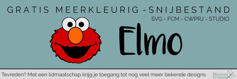 Gratis Meerkleurige Elmo design voor je Brother ScanNCut of Silhouette machine